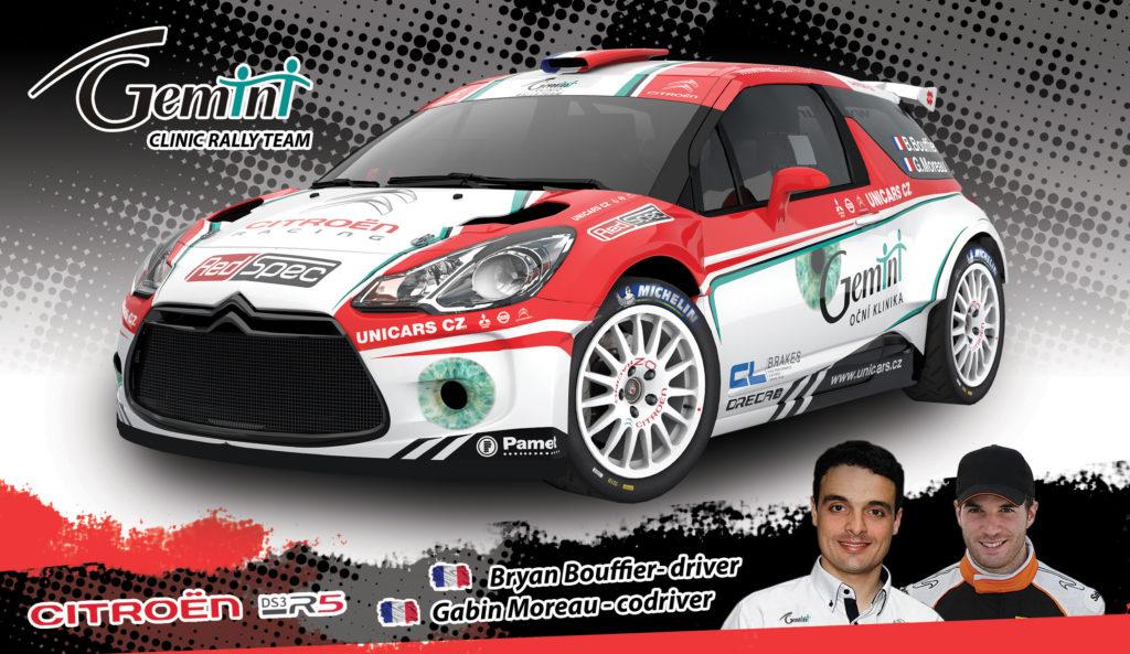 Podpisová karta rally - Bryan Bouffier - Gabin Moreau