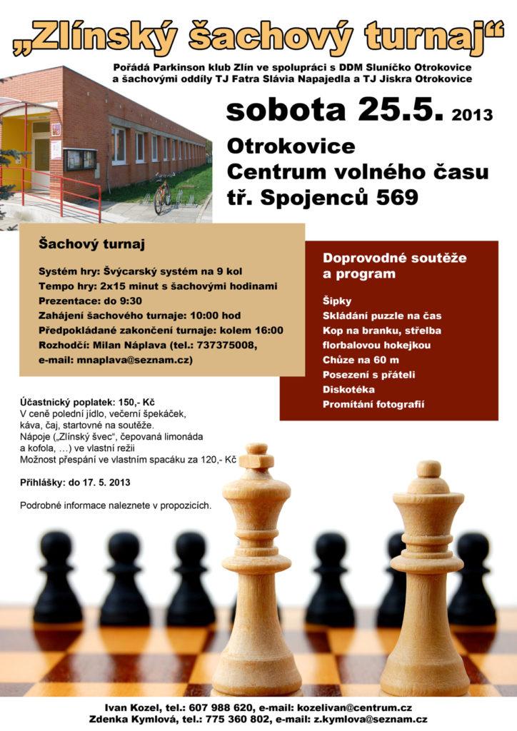 Plakát na šachový turnaj